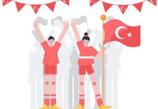 flat-commemoration-ataturk-youth-sports-day-illustration_23-2148930972